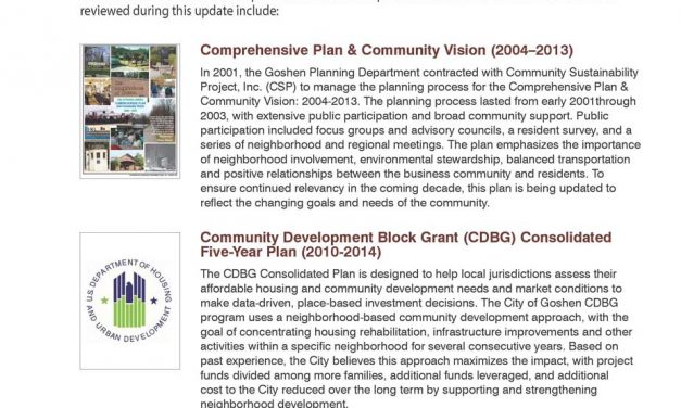 Goshen Comprehensive Plan – Appendix A: Summary of Related Plans