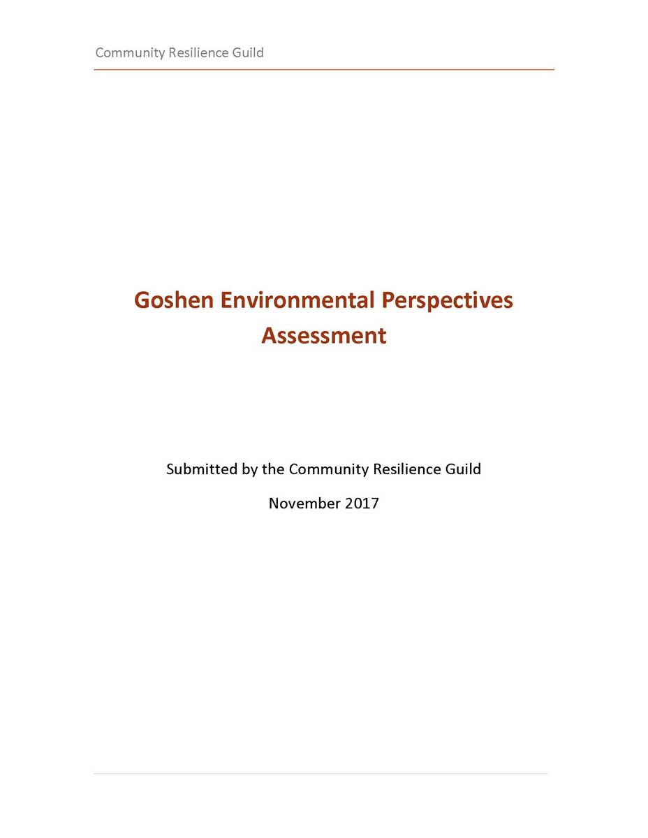 Goshen Environmental Perspectives Assessment